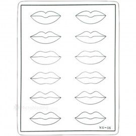 Тренировочный коврик белый (губы)