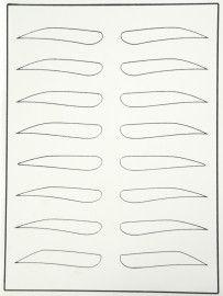 Тренировочный коврик белый (горизонтальные брови)