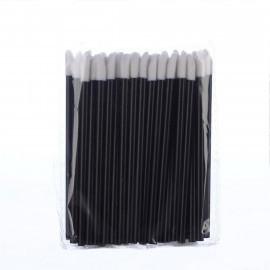 Одноразовые кисточки для макияжа черные (50 шт.)