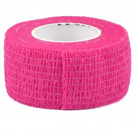 Бандаж узкий розовый