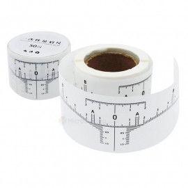 Линейка для бровей самоклеящаяся одноразовая в рулоне (50 шт.)