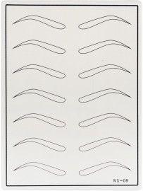 Тренировочный коврик белый (брови с изломом)