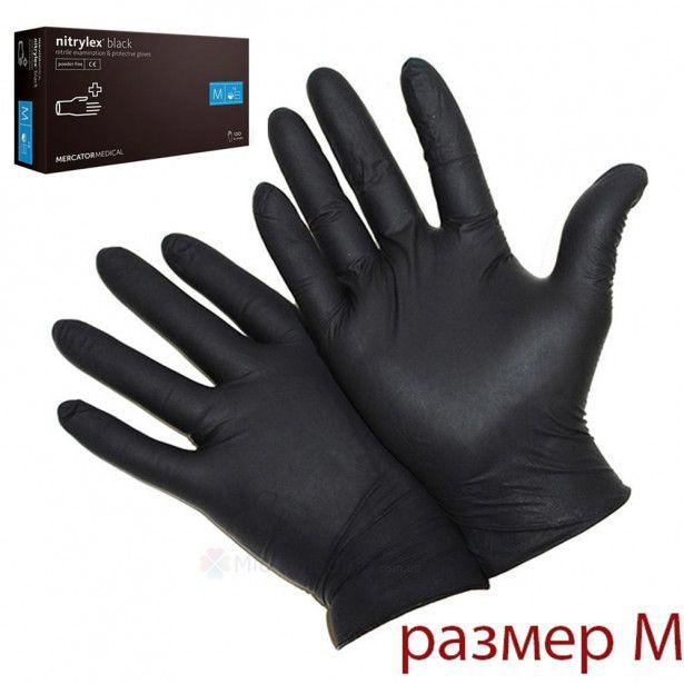 Упаковка перчаток Mercator M (черные 50 пар)