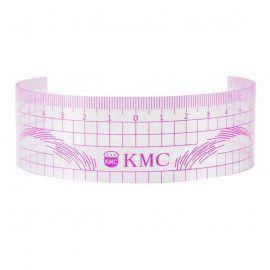 Линейка для микроблейдинга KMC розовая