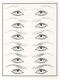 """Тренировочный коврик белый """"глаза"""" (схема)"""