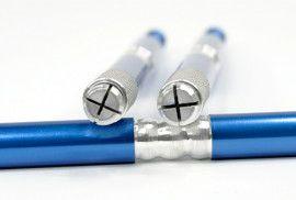 Манипула для микроблейдинга односторонняя для плоских игл (синяя)